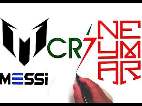 drawing all 3 logos of ronaldo, messi and neymar jr. youtube