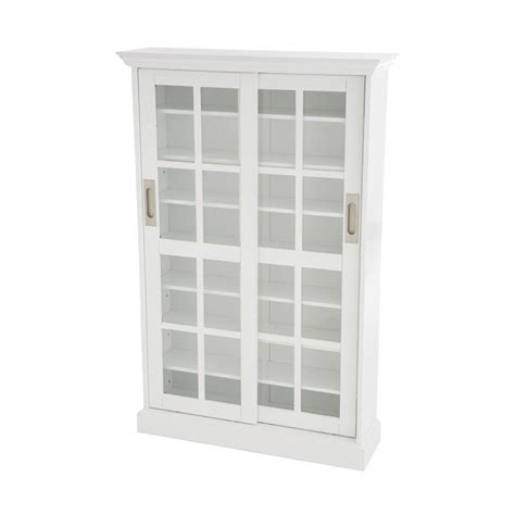 Sliding Cabinet Doors Home Depot by Home Decorators Collection Cabinets 536 Disc White Sliding