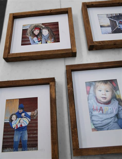 Simple Handmade Photo Frames - white simple wood gallery frame plans diy projects