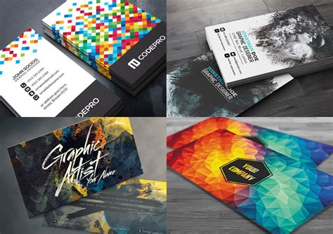 create cool business card template photoshop 15 creative business card templates with unique designs