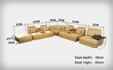 canapé d'angle modulable en cuir italien belem
