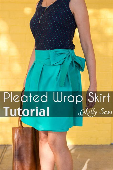 simple no pattern skirt diy pleated wrap skirt tutorial melly sews