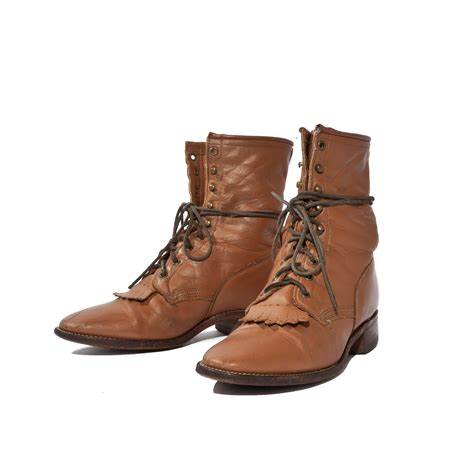 mens lace up cowboy boots s lace up roper boots mocha brown leather western