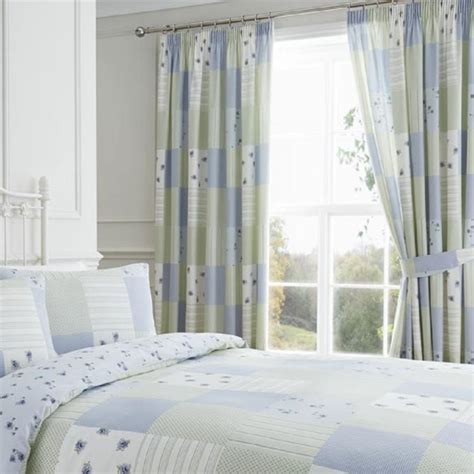 Blue Patchwork Curtains - patchwork curtains blue tonys textiles