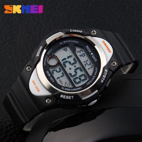 Jam Tangan Murah Jam Tangan Anak Skmei 1163 Dual Time Skmei skmei jam tangan anak dg1077 black white