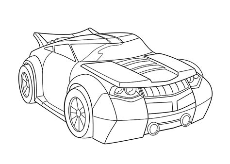 Printable Rescue Bots Coloring Pages bumblebee car coloring pages for printable free