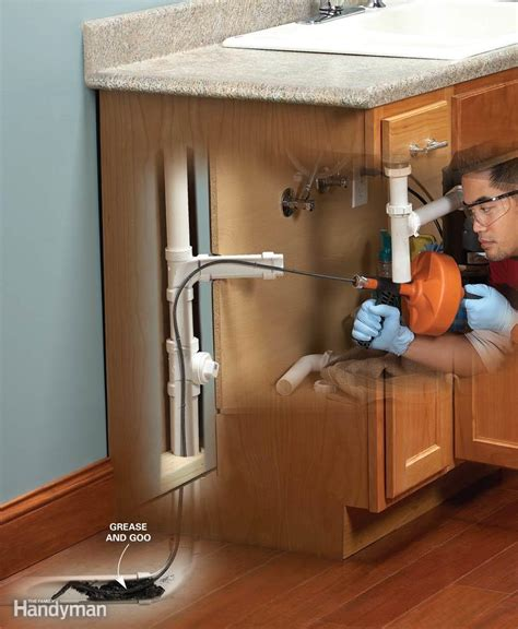How To Unclog A Kitchen Sink Drain Unclog A Kitchen Sink The Family Handyman