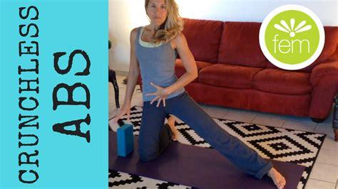 min crunchless abs safe  prolapse  diastasis recti femfusion fitness youtube