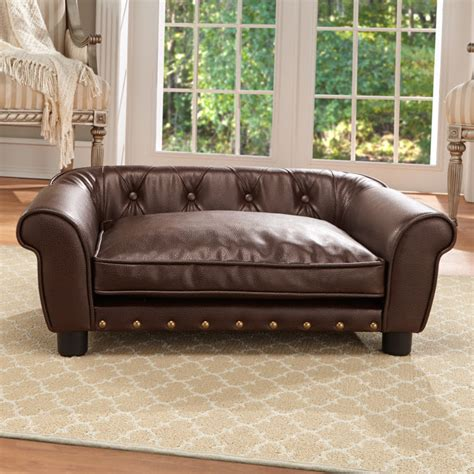 dog bed leather couch spiffy pet products faux leather dog bed ideas