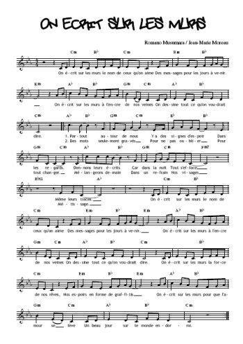 Téléchargez la partition gratuite de la chanson On écrit