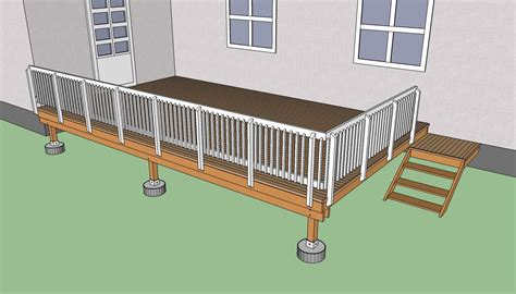diy deck building how to build a deck on the ground howtospecialist how