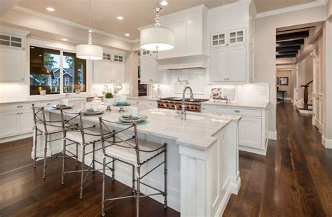 white kitchen island with breakfast bar 30 open concept kitchens pictures of designs layouts