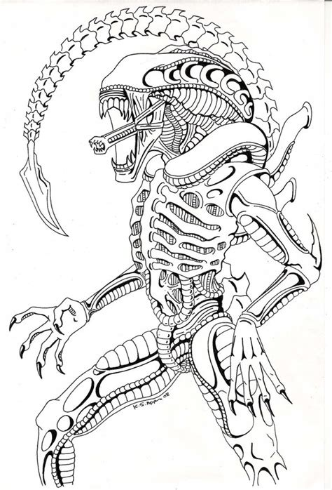 Xenomorph Coloring Page by Xenomorph Comission By Nathaldron On Deviantart