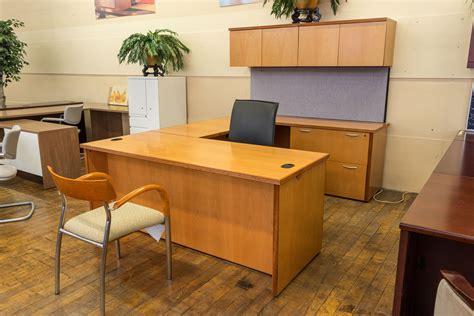 honey maple executive u shaped desk suite peartree