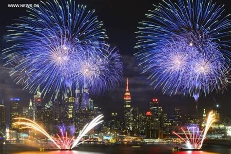 xinhua new year new year celebrated with fireworks manhattan