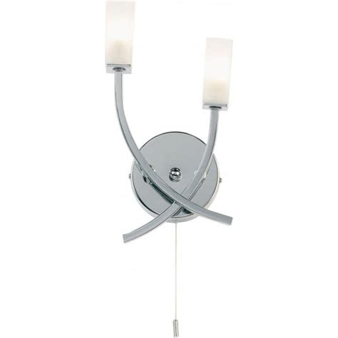 endon 146 2ch switched chrome wall light