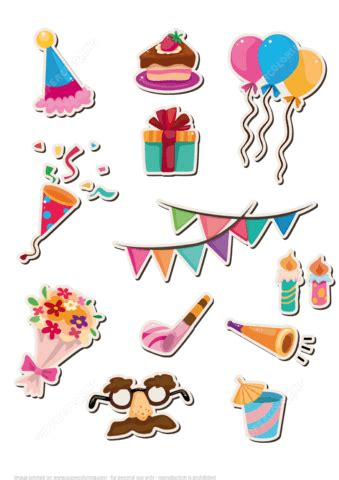 printable birthday stickers printable stickers for happy birthday party free