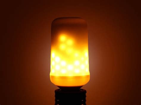 Led Flame Flicker Lightbulb Save 37 Geeky Gadgets Led Light Bulb Flickering
