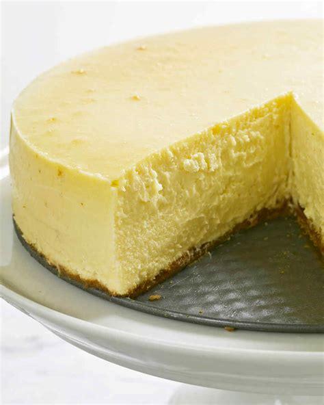 is ny style cheesecake refrigerated new york style cheesecake recipe martha stewart