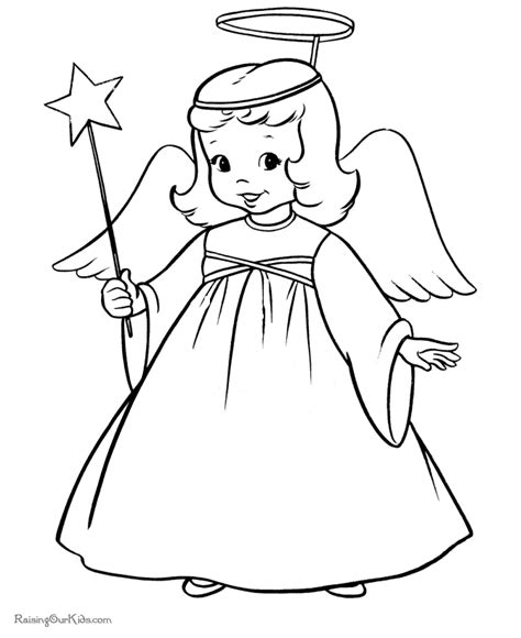Coloring Page Angels | angel coloring pages for adults coloring home