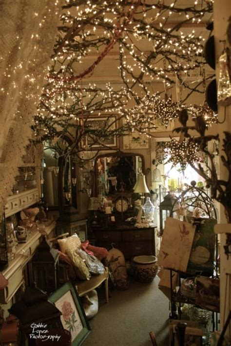 cute home decor stores white lights wrapped around grapevine garland greenery