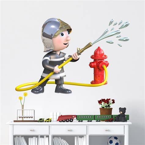 Wandtattoo Kinderzimmer Feuerwehrmann Sam by Kinderzimmer Wandtattoo Feuerwehrmann Und Schlauch