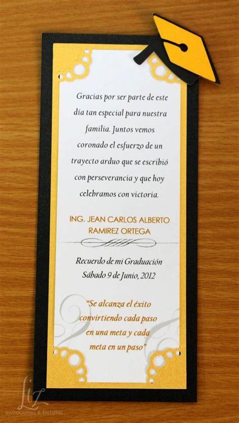 invitacion de graduacion en espanol souvenir recordatorio o invitaci 243 n para graduaci 243 n