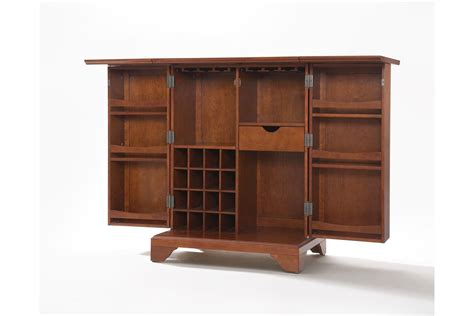 Crosley Bar Cabinet Lafayette Expandable Bar Cabinet In Classic Cherry Finish By Crosley Fdrop 170327