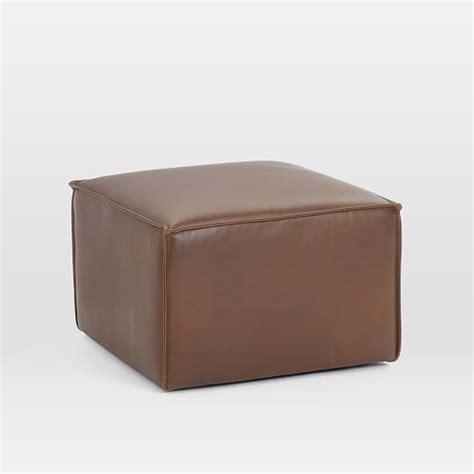 elm leather ottoman leather ottoman elm