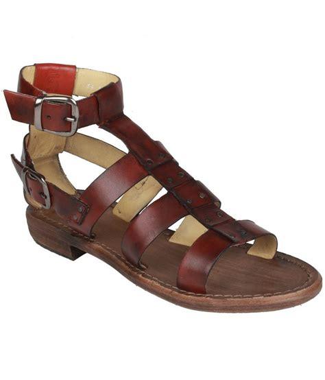 salt n pepper trendy maroon sandals price in india buy