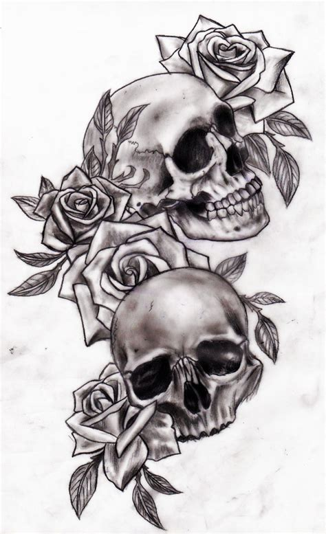 skull and roses by calebslabzzzgraham on deviantart
