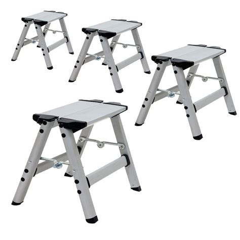 one step aluminum step stool xtend climb ultra 1 ft light weight aluminum single