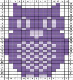 knitting pattern with animals motifs on free bear silhouette crochet chart follow this graph to