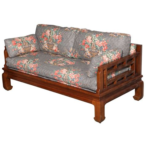asian style sofa michael taylor baker furniture asian style sofa at 1stdibs