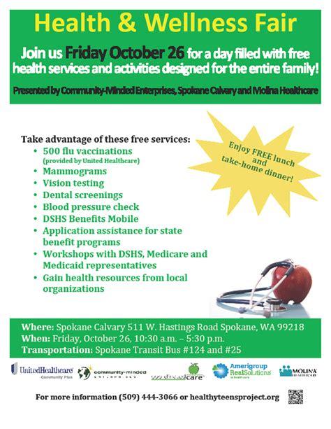 Health Fair Flyer Templates Free Yourweek 6f68efeca25e Health And Wellness Fair Flyer Template
