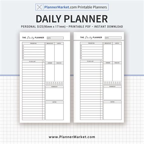 2017 2018 printable planner home binder set home daily planner 2018 planner personal size inserts