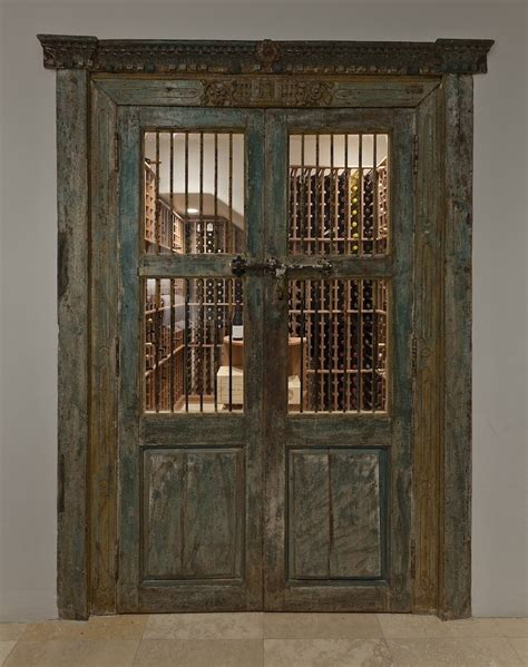 Wine Closet Doors Antique Doors Lead To Wine Cellar In My Homes Bar Wine Ce