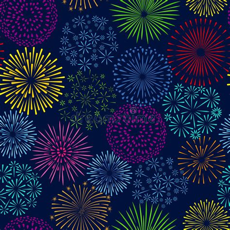 seamless pattern fireworks night firework seamless pattern celebration fireworks
