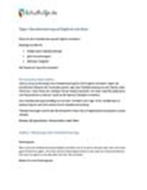 Comment Schreiben Muster Englisch Kommentar Schreiben Beispiel Schulhilfe De