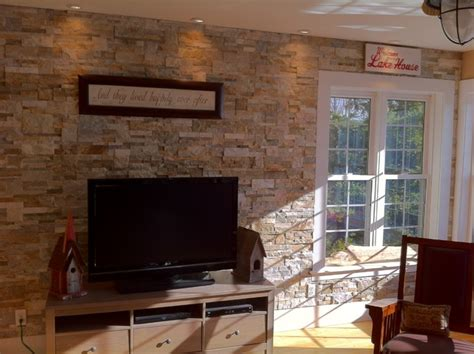 accent wall living room houzz stone accent wall natural ledge stacked stone beach