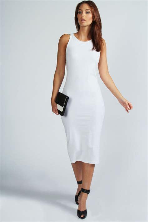 Bodycon White Dress white midi dress dressed up
