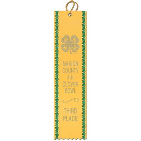 F Ribbon Top 2 x 8 square top award ribbon w border fair award ribbons