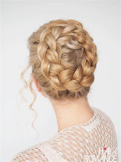 new braid tutorial the high braided crown hairstyle time saving hair tips hair romance