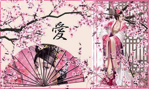nagara pattern japanese kanji love wallpaper