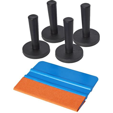 0738vc Set 5in1 Leather Embos 1 5 in 1 window tint tool kit include 3m suede felt squeegee 4x gripper magnet holder for car