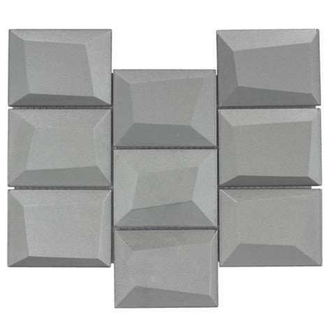 dimensional tile glass wall tile dimensional grey mineral tiles