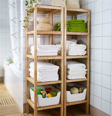 Wooden Shelves For Bathroom Home Dzine Home Diy Bathroom Storage Shelves