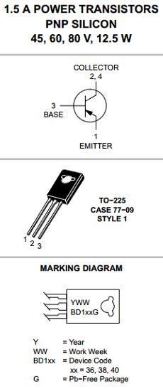 bd140 transistor circuit bd140 datasheet bd140 pdf pinouts circuit on semiconductor