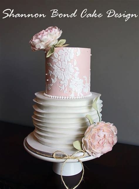country chic wedding shower cakes country chic lace bridal shower cake ruffle ruffle