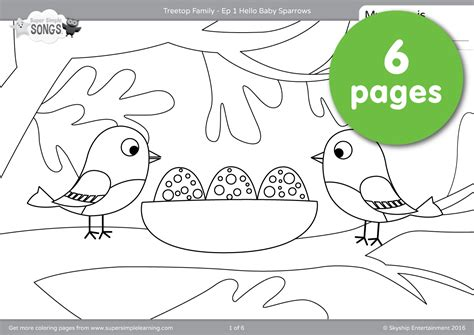 coloring book ep treetop family coloring pages episode 1 simple